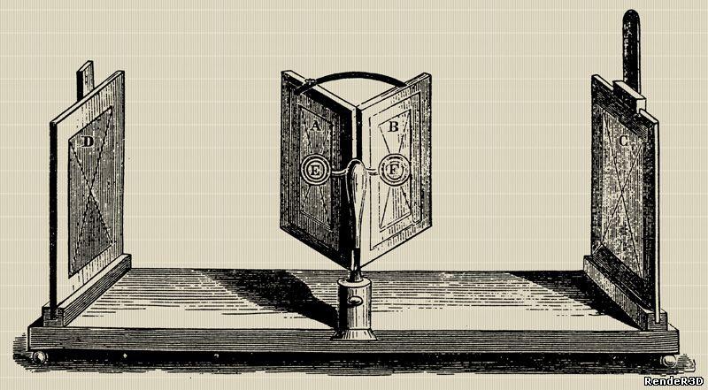 Стереоскоп изобрел Чарльз Уитстоун в 1833 году, и первыми изображениями со стереоэффектом были рисунки, созданные от руки.  Для каждого глаза рисовалось отдельное изображение, чтобы при просмотре сформировать стереоскопический эффект.