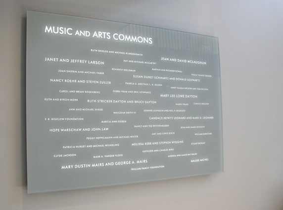 McAlester College Blasted Art Donor Wall