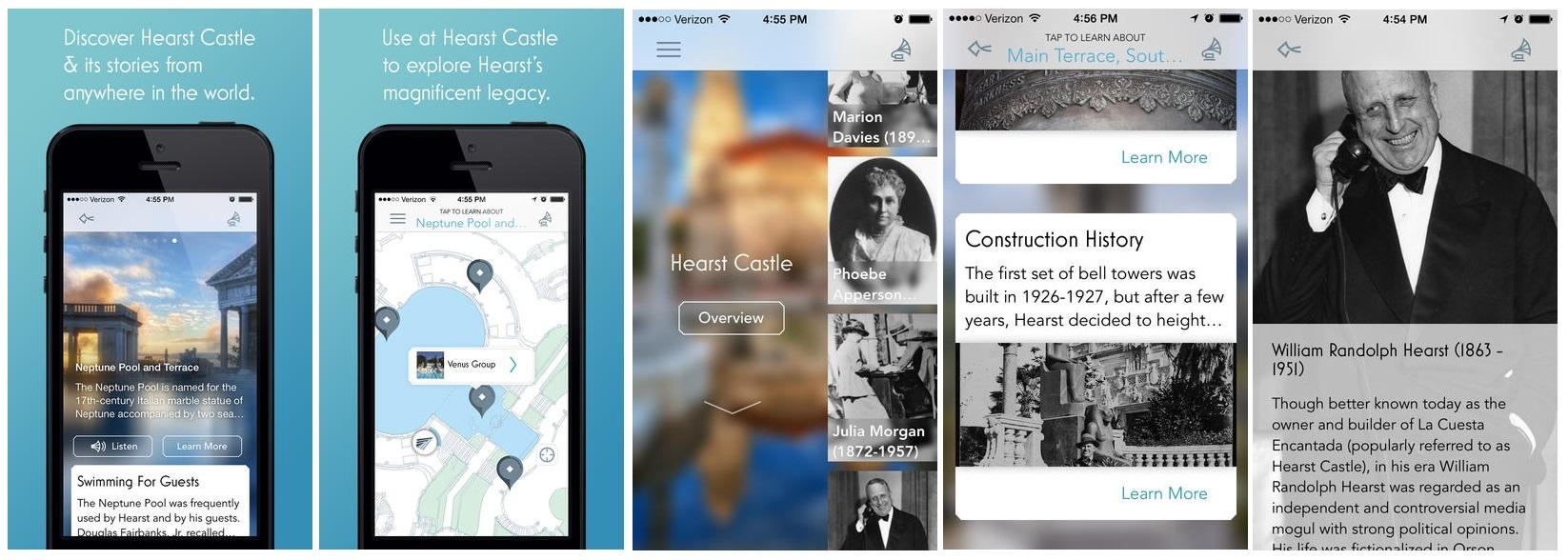 Приложение Hearst Castle для iOS